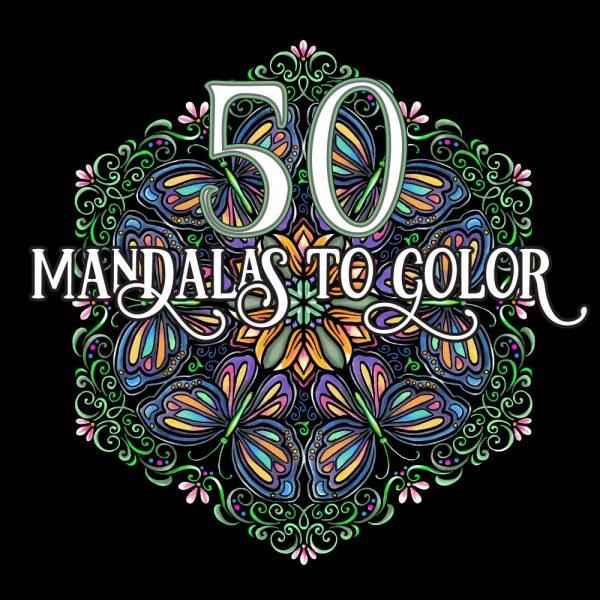 50 Mandalas to color by Rebecka Hathaway