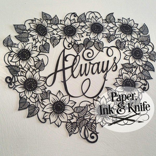 Always - papercut template to purchase and download