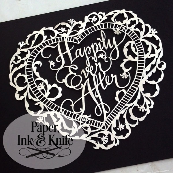 Happily Ever After - a paper cut DIYTemplate