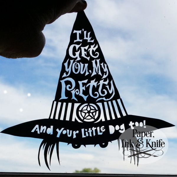 I'll get you, my pretty! Papercut template DIY download