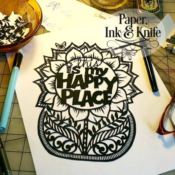 This Is My Happy Place - papercutting template for personal use