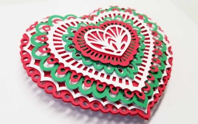 Layered Paper Ornaments How To