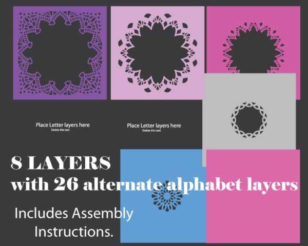 Alphabet Shadowbox Template