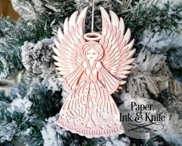 Angel 3D Ornament Template
