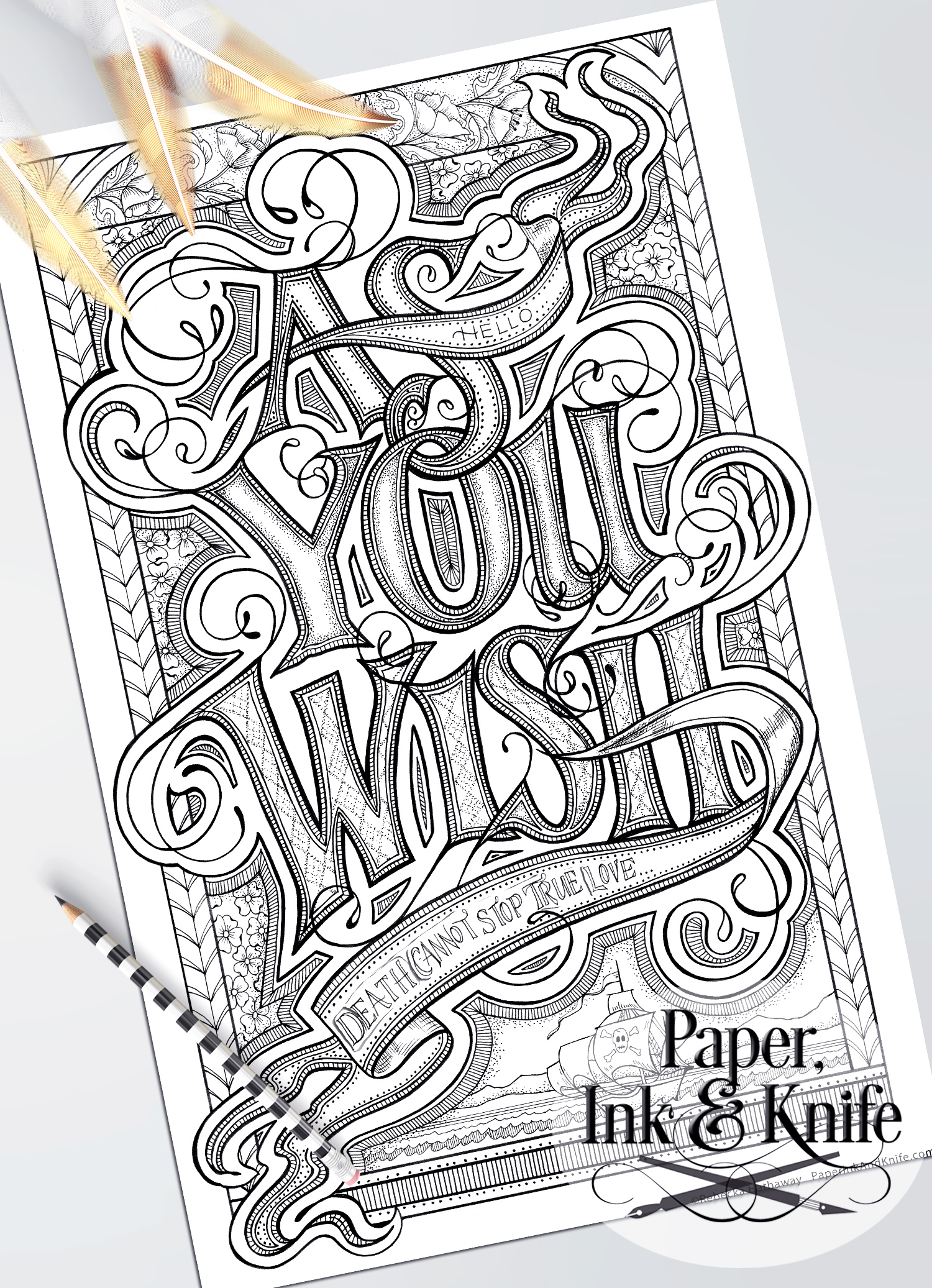 As You Wish Coloring Page