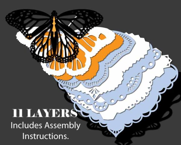 Butterfly Ornament Template