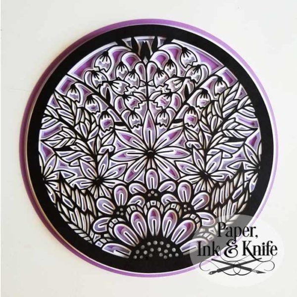 Doodle Garden Mandala Shadowbox Template