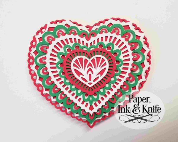 Heart Layered Ornament