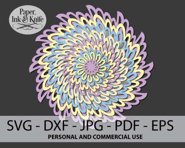 Lacy Layers 3D Paper Ornament Template