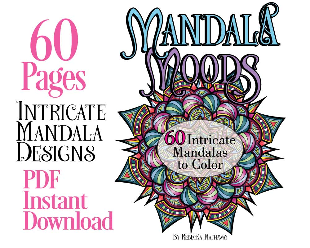 - 60 Mandalas To Color - Mandala Moods - PDF Coloring Book - Paper, Ink And  Knife