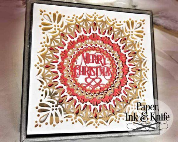 Merry Christmas Papercut Shadowbox