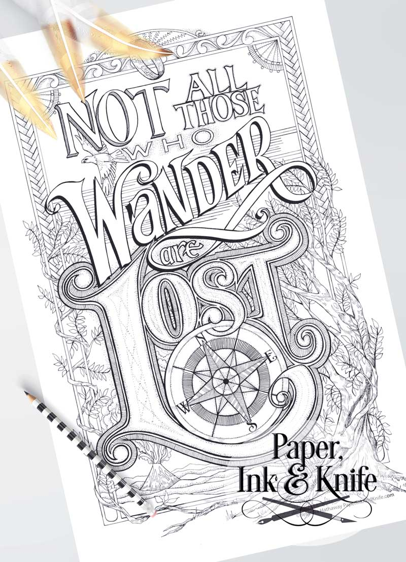 Not All Those Who Wander Are Lost - Printable Poster Sized ...