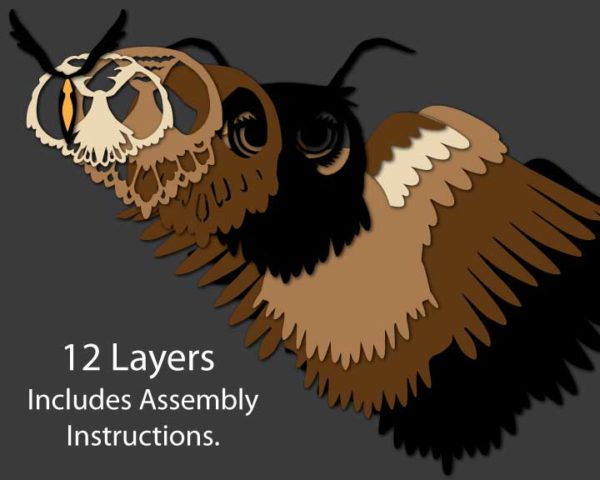 Owl Ornament layers