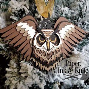 Owl 3D ornament