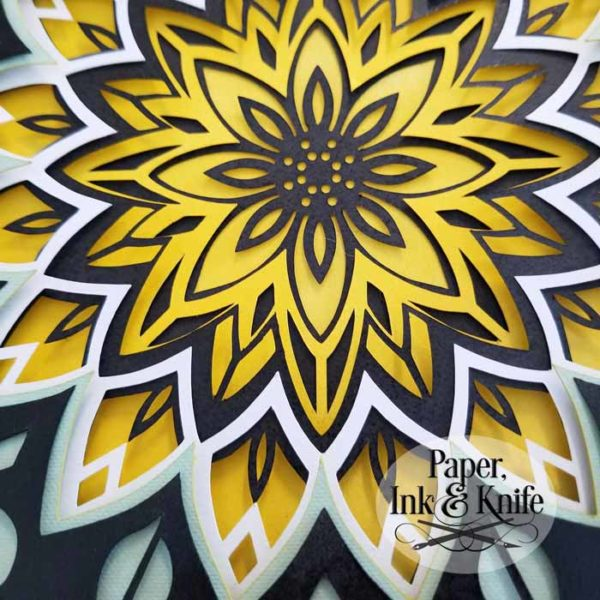 Sunflower Shadowbox Template